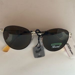 NWOT Persol FLAW Oval Polarized Metal Sunglasses